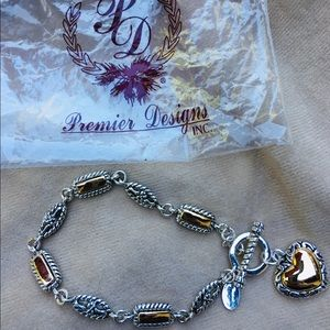 """PREMIER DESIGNS"" Two tone Bracelet. Never Worn"